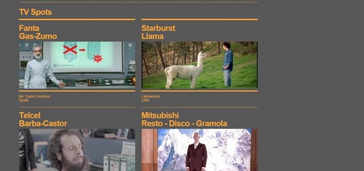 Screenshot del sitio Web de Folk