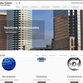 Screenshot del sitio Web de Estudio Yotich