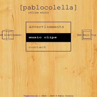 Screenshot del sitio Web de Pablo Colella