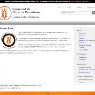 Screenshot del sitio Web de SOPLDZ