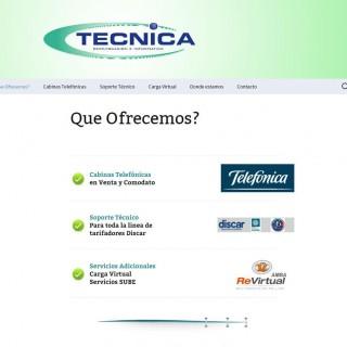 Screenshot del sitio Web de Técnica ST